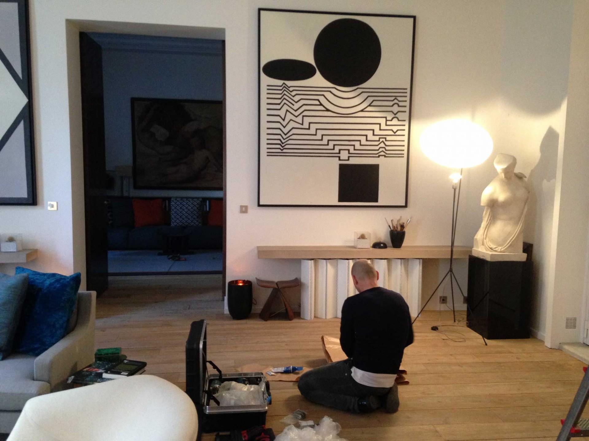 Accrochage d 39 oeuvres atelier mondineu - Atelier d artiste a vendre paris ...