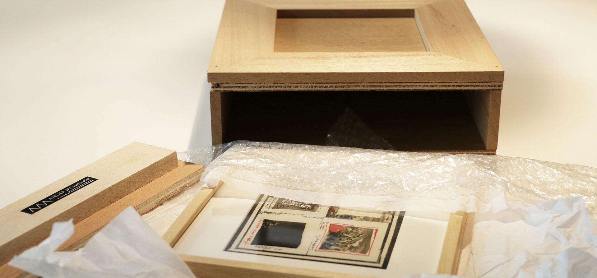 L'équipe de l'Atelier sécurise vos objets d'art lors des déplacements en les emballant professionnellement