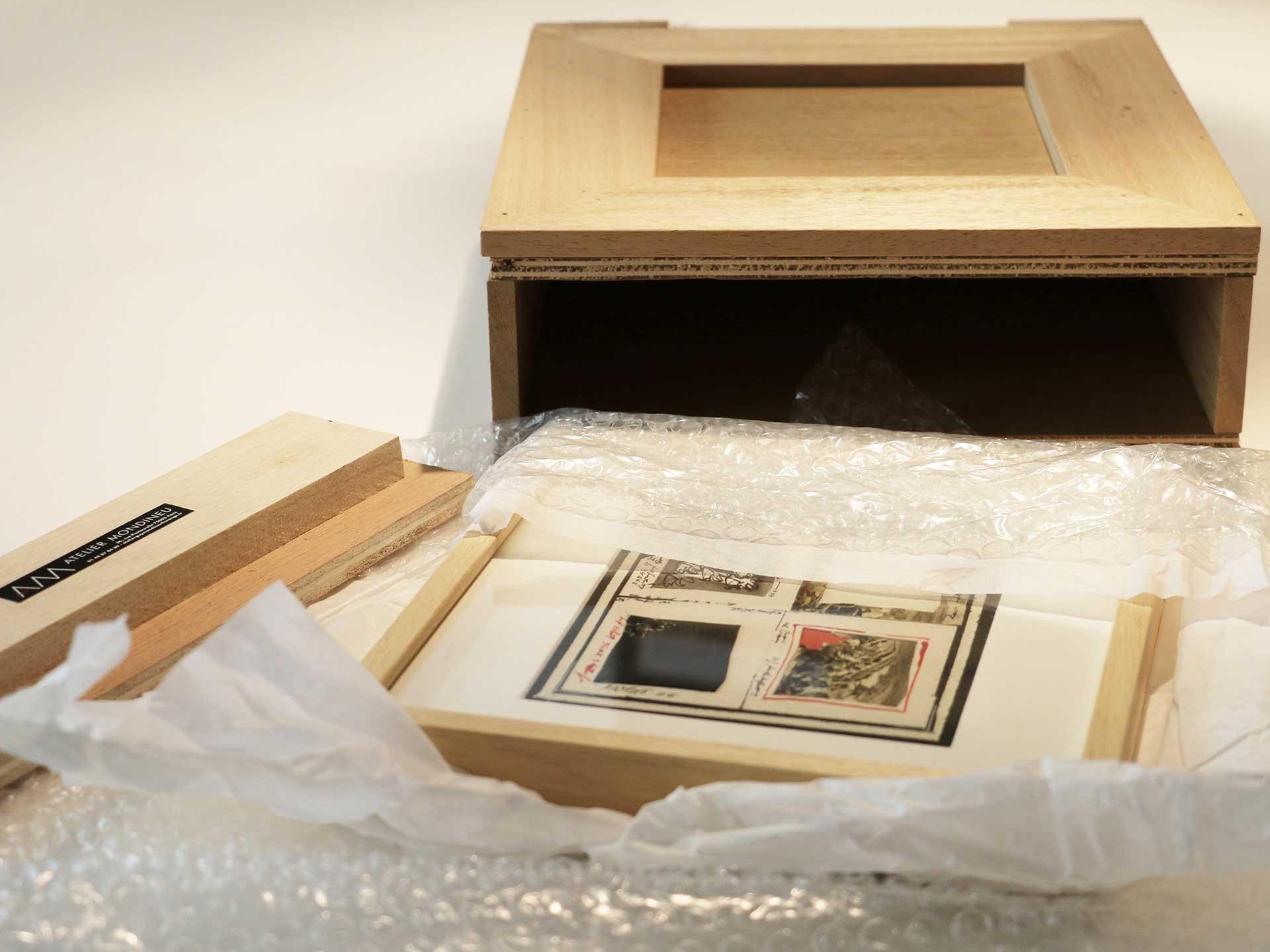 Emballage des oeuvres d'art pour expédition